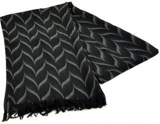 Оригинальный мужской шерстяной шарф 180 на 43 см 50149-1 черный