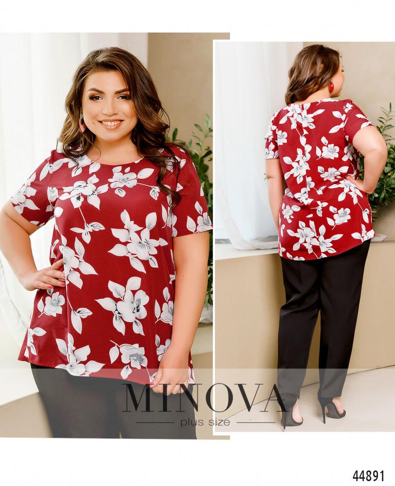 Блуза №2258-красный красный/50-52