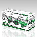 Трактор на педалях DOLU з причепом 8053 зелений, фото 6