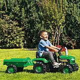 Трактор на педалях DOLU з причепом 8053 зелений, фото 4