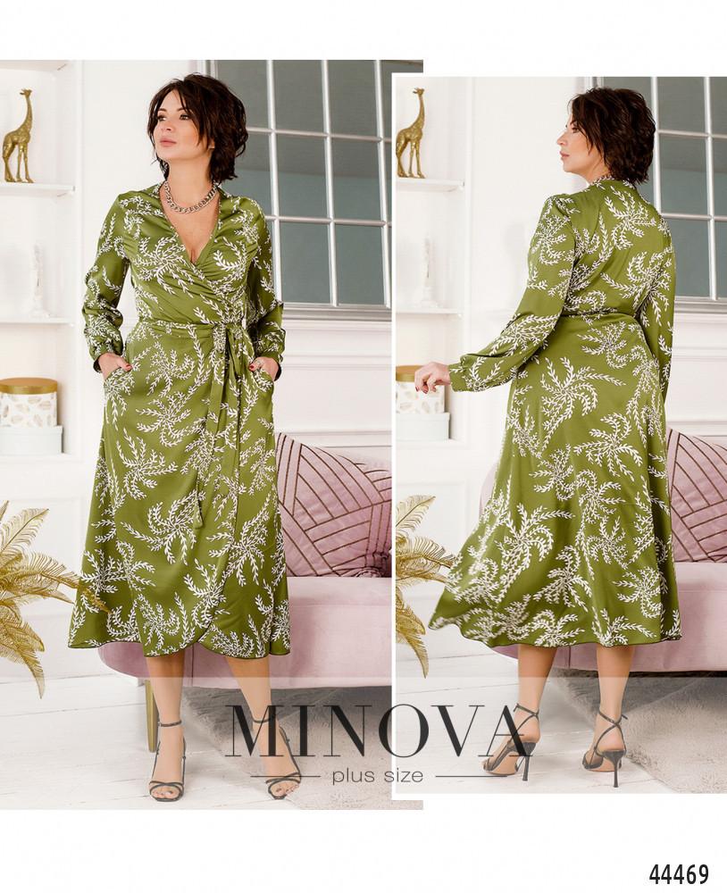 Платье №2243-оливковый оливковый/46-48