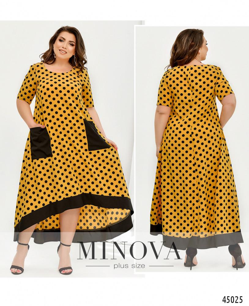 Платье №438Б-горчица горчица/50-52
