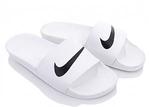 Мужские тапки / сланцы / шлепанцы Nike белые 44