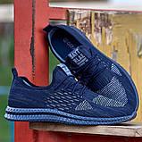Мужские кроссовки летние синие (Нс-944с), фото 2