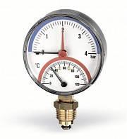 Термоманометр Watts 80, 0-120, 0-6 бар, радиальный