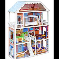 Кукольный домик для барби.Кукольный домик Николь.Домик для кукол с мебелью.