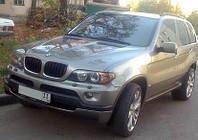 Накладка переднего бампера на BMW X5 E53