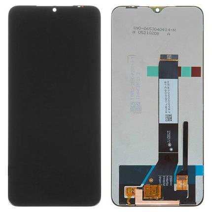 Дисплей (экран) для Xiaomi Poco M3 с сенсором (тачскрином) черный, фото 2