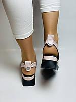 Y. FERRA. Турецькі босоніжки на низькій платформі.Натуральна шкіра Розмір 36 37 38 39 40, фото 3