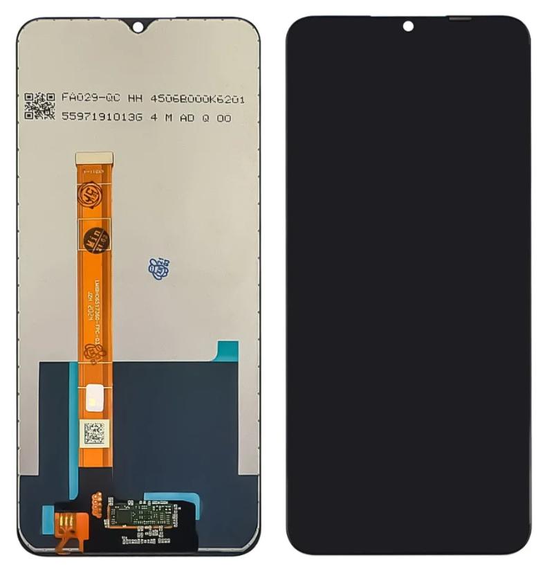 Дисплей (экран) Oppo A15 с сенсором (тачскрином) черный Оригинал