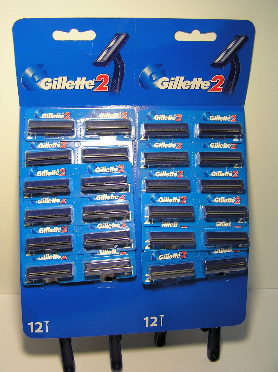 Gillette жиллетт 2 станок мужской одноразовый 24 шт.дисплей Оригинал