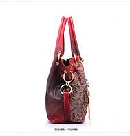 Стильная женская кожаная сумка. Модель 458, фото 4