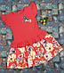 Платье на девочку Колибри 104,110,116, 122 см коралловый, фото 2