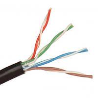 Кабель FTP(PE) Сat.5e KW-Link 4x2x(0,51CCA), наружный, чёрный, 1метр