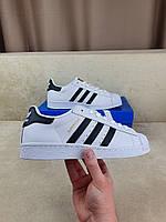 Кроссы мужские Адидас Суперстар белые с черным повседневные. УЦЕНКА Мужские кроссовки Adidas Superstar белые.