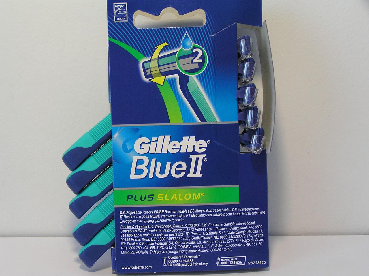 Gillette жиллетт Slalom Plus Слалом плюс станок мужской одноразовый 5 шт.