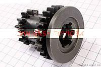 Шестерня КПП первичного вала Z=14x25 на мотоблок с двигателем 178F-186F