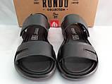 Комфортные чёрные кожаные сандалии Rondo, фото 6