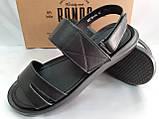 Комфортные чёрные кожаные сандалии Rondo, фото 4