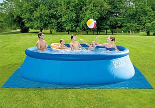 Бассейн надувной Intex Easy Set 457х122см 26168 с фильтр-насосом Большой семейный круглый бассейн для дома, фото 2