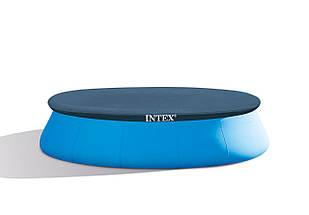 Бассейн надувной Intex Easy Set 457х122см 26168 с фильтр-насосом Большой семейный круглый бассейн для дома, фото 3