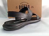 Комфортные чёрные кожаные сандалии Rondo, фото 8