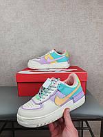 Обувь женская Найк Аир Форсы Шедоу разные цвета. Nike Air Force Shadow 1 Pale Ivory Кроссовки женские бежевые.