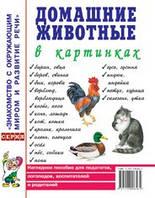 Домашние животные в картинках. Наглядное пособие для педагогов, логопедов, воспитателей и родителей.