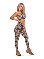 Спортивные лосины с принтом NV Aegean Camouflage, фото 1