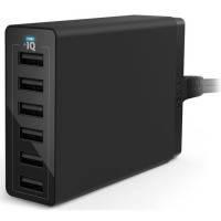 Сетевая зарядка ANKER PowerPort 6 - 60W 6-port USB Power IQ V3 (Черный)