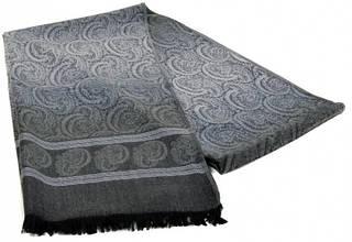Мужской шерстяной шарф 180 на 43 см 50149-13 серый