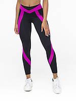 Лосины спортивные женские NV Angel, черно-фиолетовые