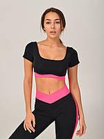 Черно-розовый спортивный топ NV Snowshoe
