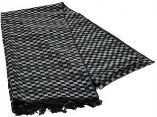 Мужской шерстяной шарф 180 на 43 см 50149-14 серый