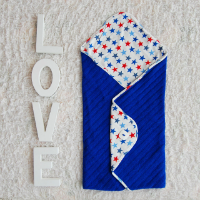 Вязаный конверт-одеяло в коляску