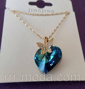 Бирюзовый кулон сердце - кулоны сваровски, ювелирная бижутерия оптом. Кулоны Xuping Jewelry 472