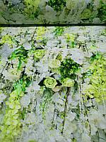 """Стрейч кулир принт """"Цветочная композиция """" - 180см. (диджитал), фото 1"""