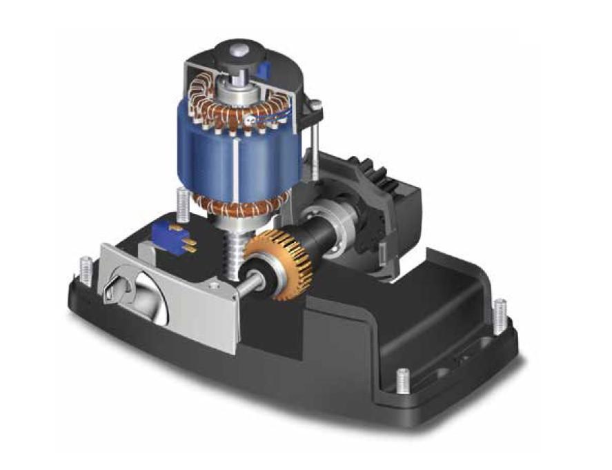 Mini комплект Roger Technology H30/640 для відкатних воріт масою до 600 кг з механічними кінцевими