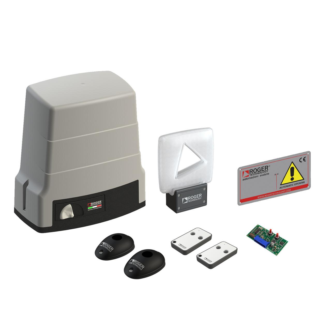 Автоматика Roger Technology KIT BH30/805 для відкатних воріт вагою до 1000 кг з механічними кінцевими