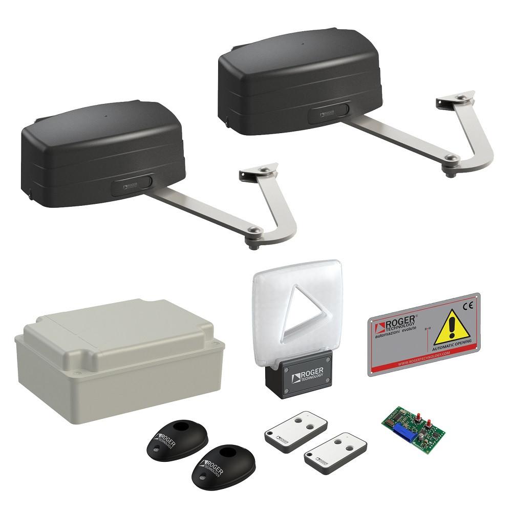 Автоматика для розпашних воріт Roger Technology KIT R23/374 з видовженими важелями LT303 maxi комплект