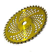Диск чашевидний посилений сталь 65г для бензокоси тримера з підрізом і побідитовими напайками