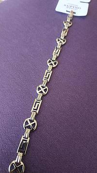Элитный позолоченный браслет. Стильные украшения Xuping оптом. 101