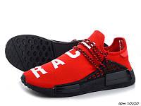 Мужские кроссовки Adidas NMD Human RACE (красные) B10520 молодежные кроссы текстильные