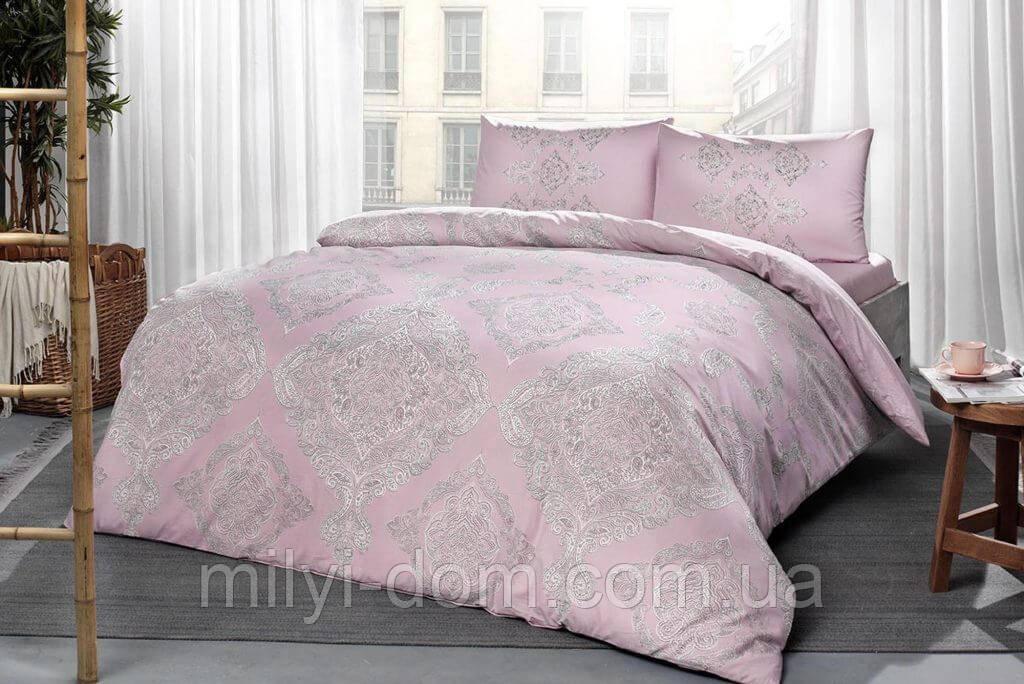 Набор постельного белья TAC Mirabel Pink (евро)