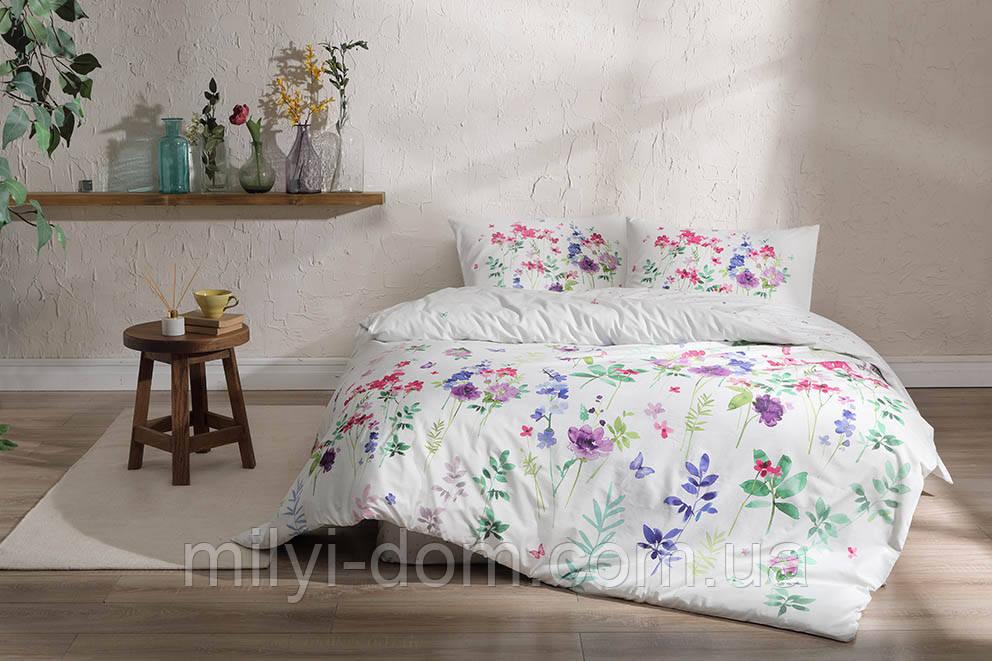 Набор постельного белья TAC  Miya Green Ранфорс-Antibacterial (евро)