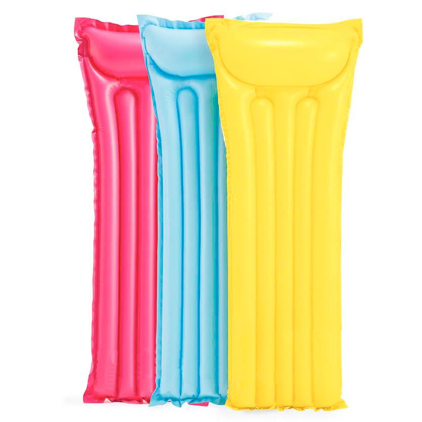 Intex Желтый надувной матрас для плавания, одноместный матрас Интекс 183х69см пляжный (надувний матрац) (ST)