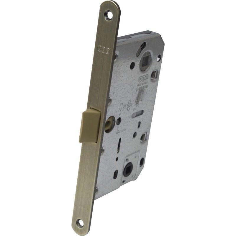 AGB Art. B051025012 Механізм для міжкімнатних дверей Mediana Polaris ант латунь 96мм (40969)