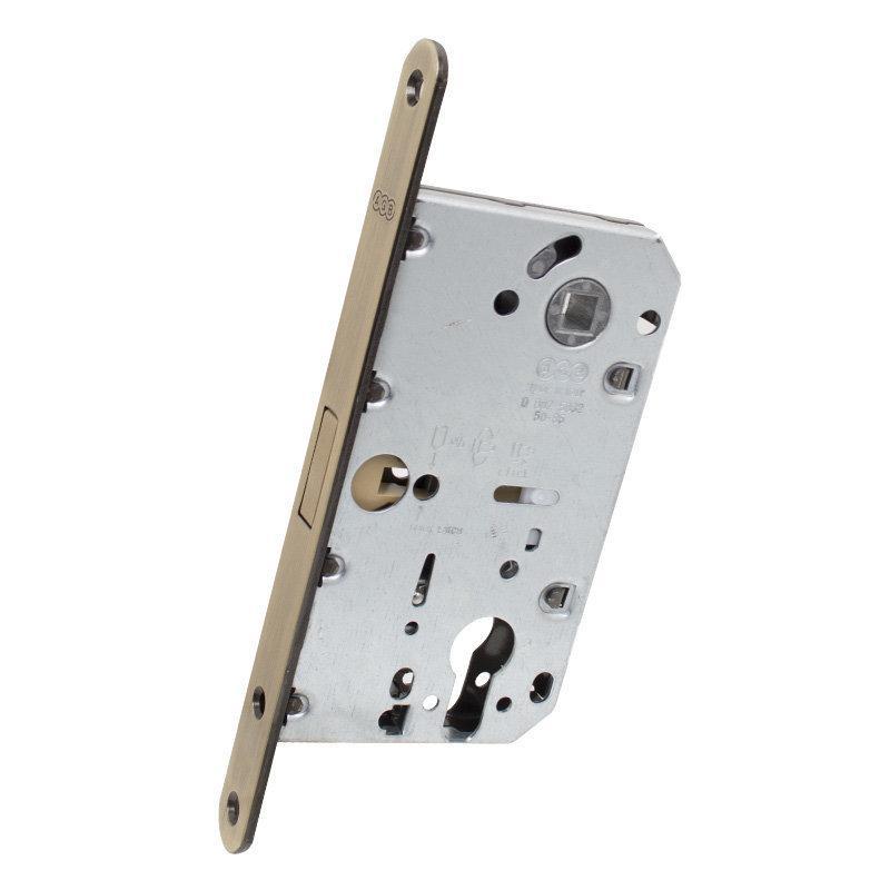 AGB Art. B051035012 Механізм для міжкімнатних дверей Mediana Polaris під циліндр ант латунь 85мм (41312)