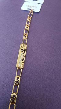 Пленительный женский браслет Xuping. Позолоченные вечерние браслеты оптом. 48