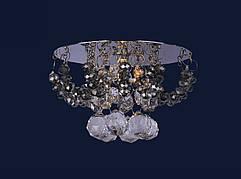 Серебряный светильник с прозрачными и чёрными камнями